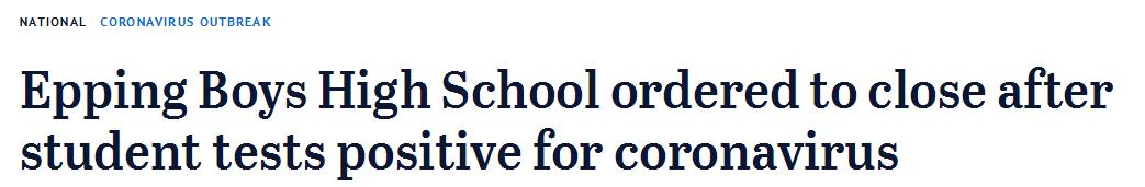 可怕!维州私校恐遭新冠袭击!16名学生及其家属被迫自我隔离…