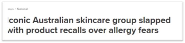 赶紧自查!澳洲国民护肤大牌,紧急召回明星产品!护肤成分标签出大错,用错过敏就麻烦了!