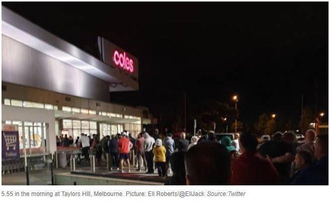 全澳确诊超过90例!网友爆料:买卫生纸要排2小时的队!凌晨5点50已经排了150人!