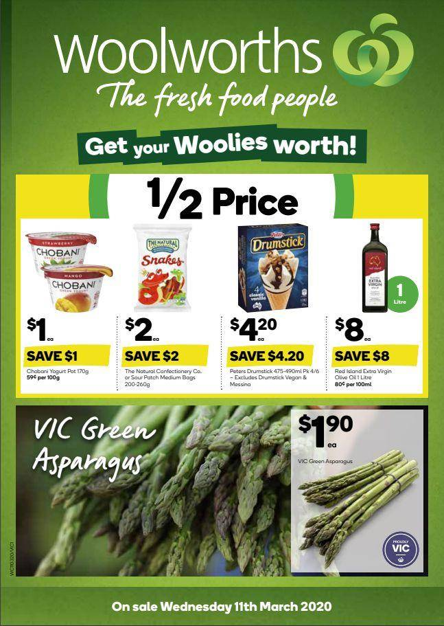 Woolworths本周最新打折优惠,3月11日至3月17日!这些半价不能错过!