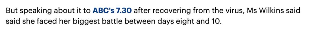 """澳女确诊新冠称""""没什么大不了"""",然而8天后病情加重..."""