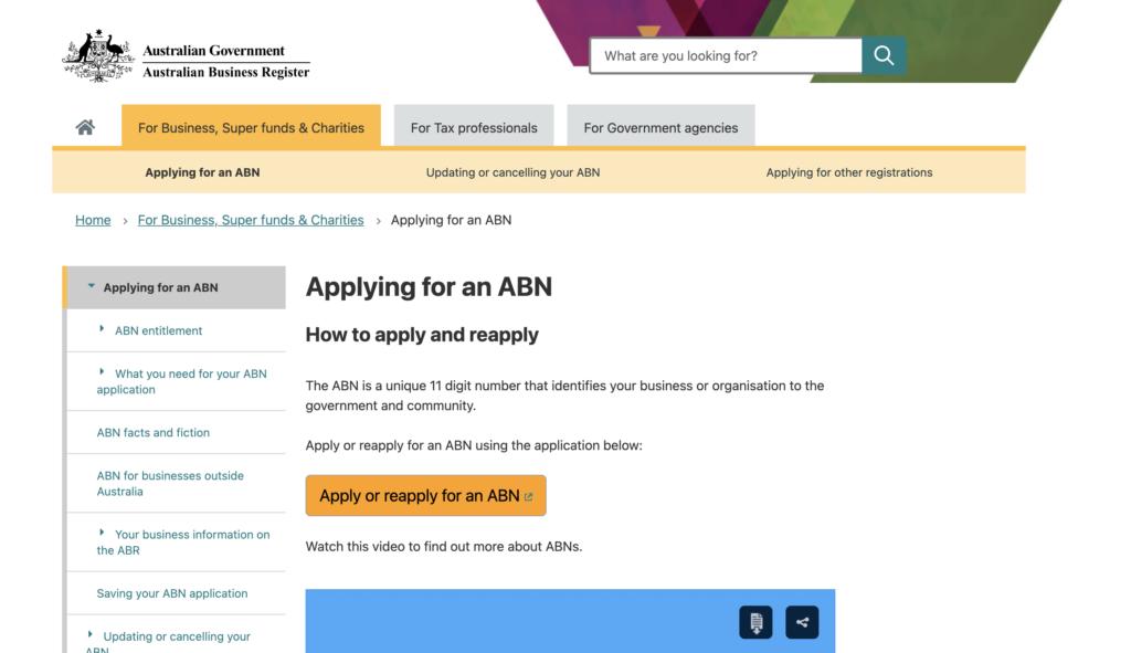 申请ABN